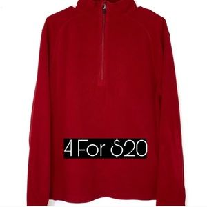 Alpine Design Red Fleece Pull Over Size Medium